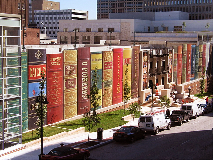 3M textured surface film on Kansas city library