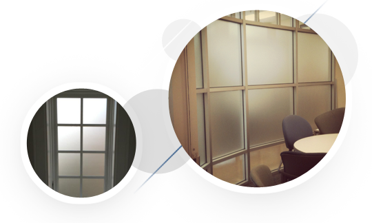 privacy frost sandblast window film