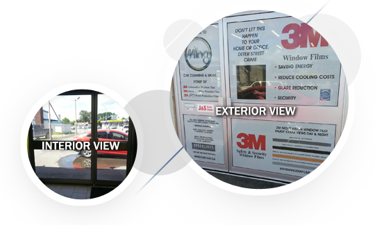 See through printed window film by Ming